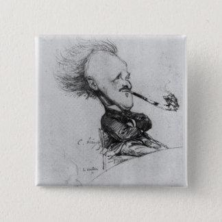 ポールフェルディナントGachet (1862-1930年の) c.1887 (鉛筆o 5.1cm 正方形バッジ