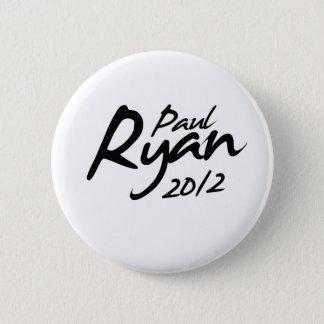 ポールライアン2012のサイン 5.7CM 丸型バッジ