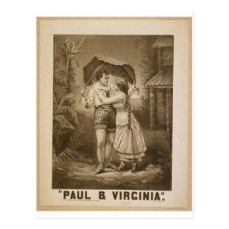 ポール及びヴァージニアのレトロの劇場 ポストカード