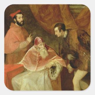 ポール法皇IIIおよび彼の甥1545年 スクエアシール