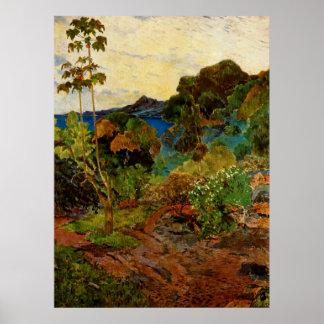 ポール・ゴーギャンのマルティニクの景色(1887年) ポスター