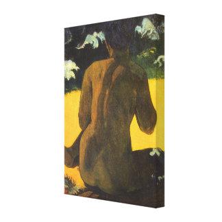 ポール・ゴーギャンのヴィンテージのファインアート著海による女性 キャンバスプリント