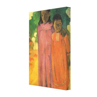 ポール・ゴーギャンのヴィンテージの印象主義著2人の姉妹 キャンバスプリント