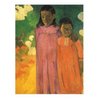 ポール・ゴーギャンのヴィンテージの印象主義著2人の姉妹 ポストカード