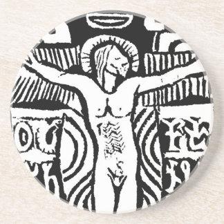 ポール・ゴーギャンの十字架像のデザインのコースター コースター