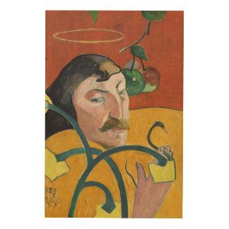 ポール・ゴーギャンの自画像のファインアートの絵画 ウッドウォールアート