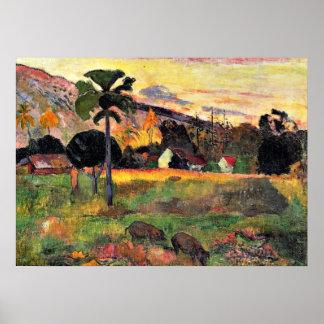 ポール・ゴーギャンの芸術: ここに来られる、Gauguin著絵を描きます ポスター