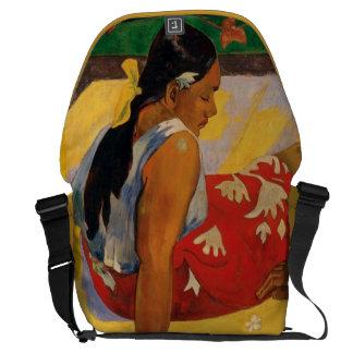 ポール・ゴーギャンタヒチParau Apiのヴィンテージの2人の女性 メッセンジャーバッグ