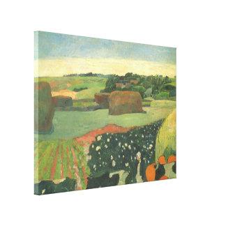 ポール・ゴーギャン著ブリッタニー、ヴィンテージの芸術の三角波 キャンバスプリント