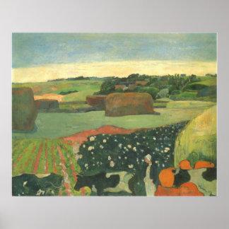 ポール・ゴーギャン著ブリッタニー、ヴィンテージの芸術の三角波 ポスター