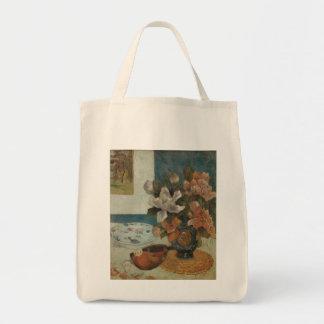 ポール・ゴーギャン著中国のなシャクヤクそしてマンドリン トートバッグ