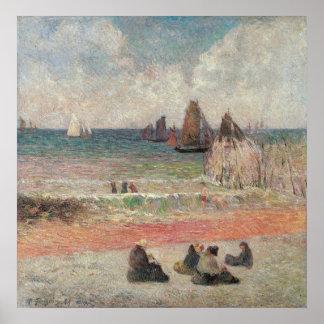 ポール・ゴーギャン著Dieppeを浸すこと、ヴィンテージのファインアート ポスター