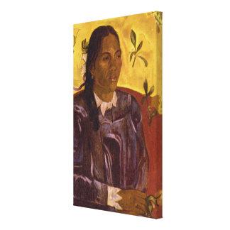 ポール・ゴーギャン著Gardeniaの女性 キャンバスプリント