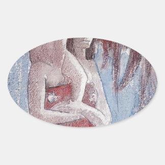 ポール・ゴーギャン著Oranaマリア(あられマリア) 楕円形シール