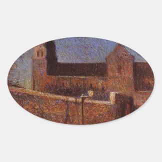 ポール・ゴーギャン著Vaugirard教会 楕円形シール