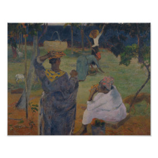 ポール・ゴーギャン-マルティニクのマンゴ間の… ポスター