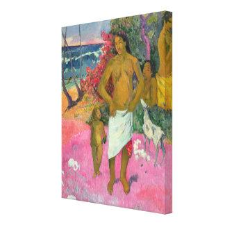 ポール・ゴーギャン|海1902年による歩行 キャンバスプリント