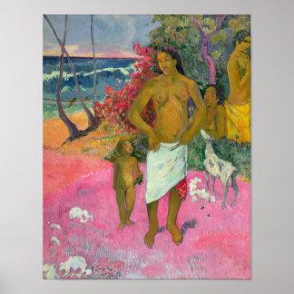 ポール・ゴーギャン|海1902年による歩行 ポスター