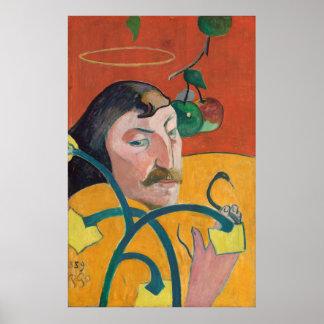 ポール・ゴーギャン: 自画像、1889年の絵を描くポスター ポスター