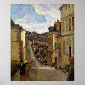 ポール・ゴーギャン|郊外の通り1884年 ポスター