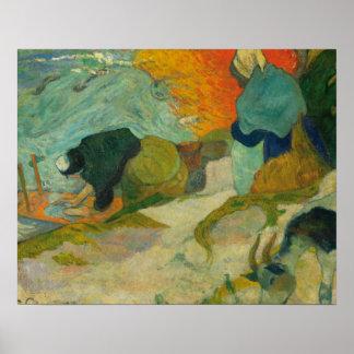 ポール・ゴーギャン- ArlesのWasherwomen ポスター
