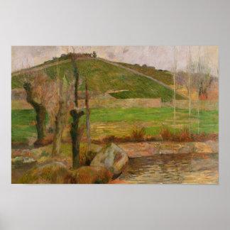 ポール・ゴーギャン- Pont-Avenの近くの景色 ポスター