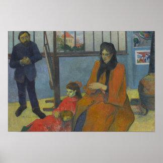 ポール・ゴーギャン- Schuffeneckerのスタジオ ポスター