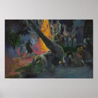 ポール・ゴーギャン- Upa Upa (火のダンス) ポスター