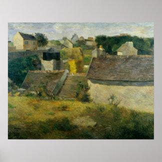 ポール・ゴーギャン- Vaugirardの家 ポスター