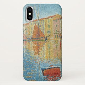 ポール・シニャックのヴィンテージの点描著赤いブイ iPhone X ケース