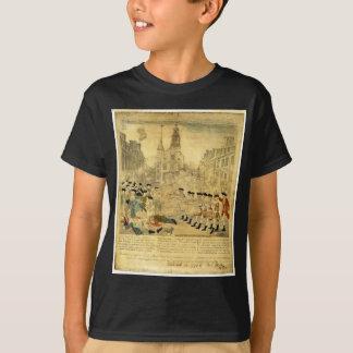 ポール・リビア著ボストン大虐殺 Tシャツ