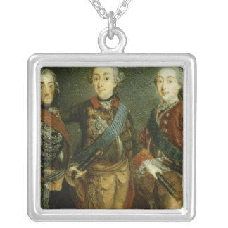 ポール、Frederick IIおよびスウェーデンのグスタフAdolph シルバープレートネックレス