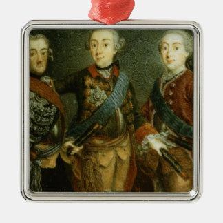 ポール、Frederick IIおよびスウェーデンのグスタフAdolph メタルオーナメント