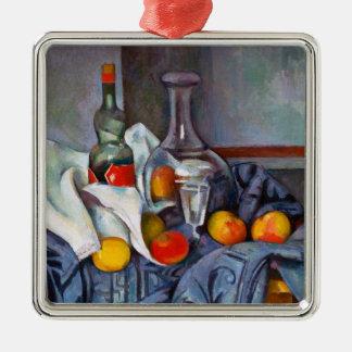 ポールCézanneペパーミントのボトルの静物画の芸術 メタルオーナメント