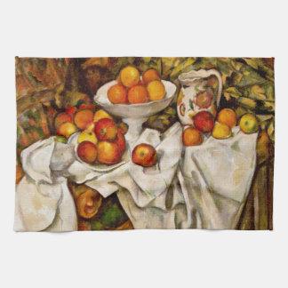 ポールCézanne -りんごおよびオレンジ キッチンタオル