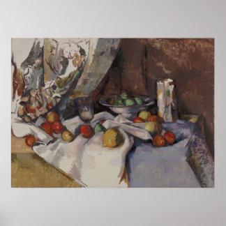 ポールCézanne -りんごが付いている静物画 ポスター