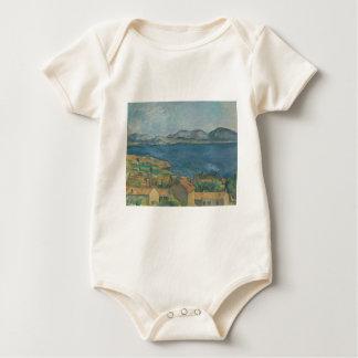 ポールCézanne -マルセーユの湾 ベビーボディスーツ