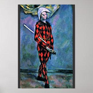 ポールCézanne (最も最高のな質)著道化師 ポスター
