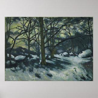 ポールCézanne -溶ける雪、フォンテンブロー ポスター
