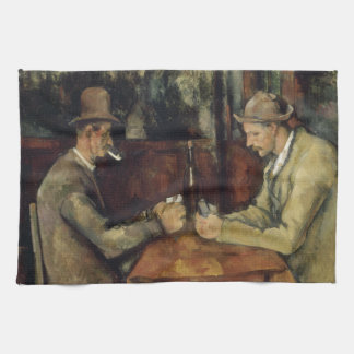 ポールCézanne 1895年著カードプレーヤー 台所タオル