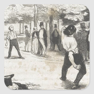 ポールde Kock。 Honore Daumier著大きい都市 スクエアシール