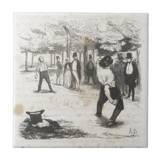 ポールde Kock。 Honore Daumier著大きい都市 タイル