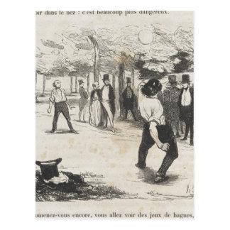 ポールde Kock。 Honore Daumier著大きい都市 ポストカード