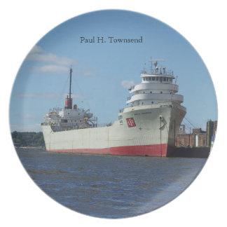 ポールH. Townsendのプレート プレート