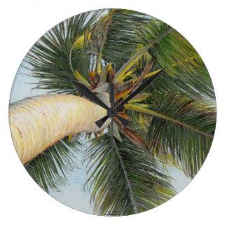"""ポールMcGeheeの""""ヤシの木""""の時計 ラージ壁時計"""