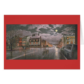 """ポールMcGeheeの""""古い町のクリスマス""""のクリスマスカード カード"""
