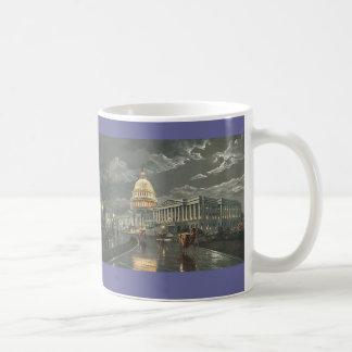 """ポールMcGehee """"月光による国会議事堂""""のマグ コーヒーマグカップ"""
