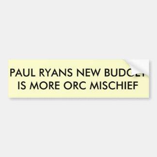ポールRYANSの予算 バンパーステッカー
