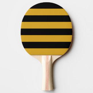 ポーンのポーンのかい-横の黒及びGoldenrod 卓球ラケット