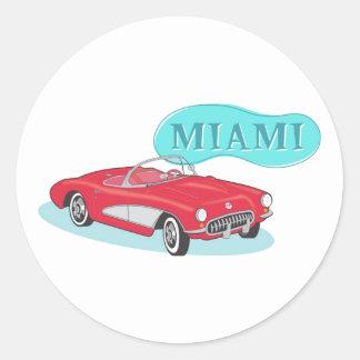 マイアミのクラシックコルベット ラウンドシール
